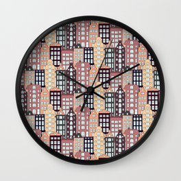 City patter Wall Clock