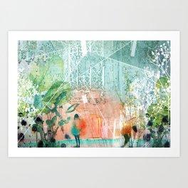 ArchiCollage - Secret Garden Art Print