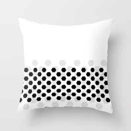 Backgroun of soocer,  football. Traditional sport texture of ball. Throw Pillow