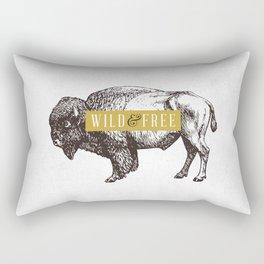 Wild & Free (Bison) Rectangular Pillow