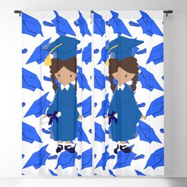Congratulations Little Graduation Girl Diploma Blackout Curtain