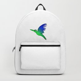 childishly Hand drawn bird in a stained glass look Backpack