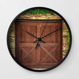 Door and Ivy Backdrop Wall Clock