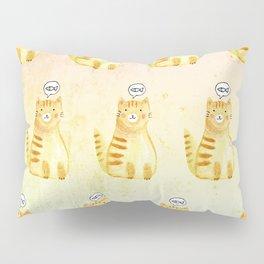 Watercolor Orange Cat Pillow Sham
