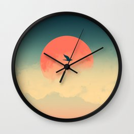 Lonesome Traveler Wall Clock