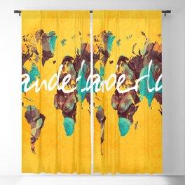 world map 123 wanderlust #wanderlust #map Blackout Curtain