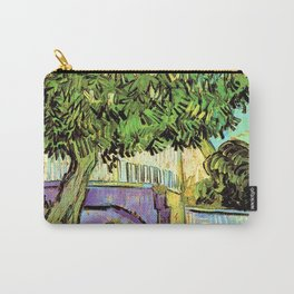 Vincent van Gogh : Blossoming Chestnut Tree 1887 Carry-All Pouch