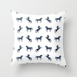Where the blue horses run Throw Pillow