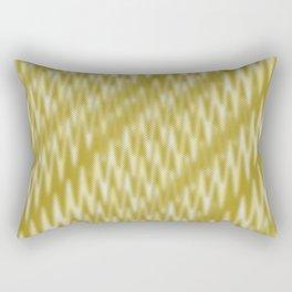 Golden Wavelength Fuzzy Caramel Spikes Rectangular Pillow