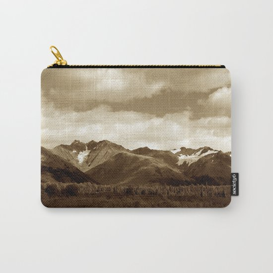 Alaskan Mountain Vista - Sepia Carry-All Pouch