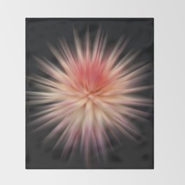 Pulsating Dahlia Throw Blanket