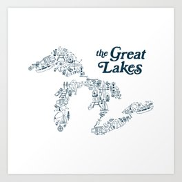 The Greatest Lakes Art Print