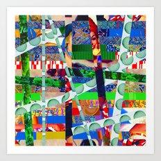 Chris (stripes 14) Art Print