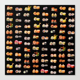 Sushi set Canvas Print