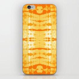 Satin Shibori Yellow iPhone Skin