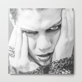 The Face From Oblivion Metal Print