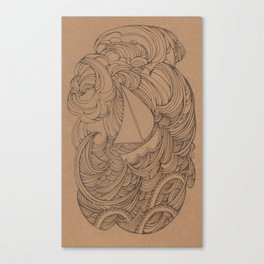 Little Ship Canvas Print
