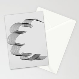 ''Dove Collection'' - Minimal Letter C Print Stationery Cards
