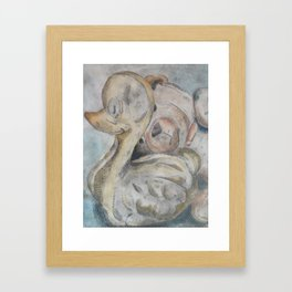 duck and bear Framed Art Print