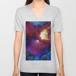 Bat Nebula  Unisex V-Neck