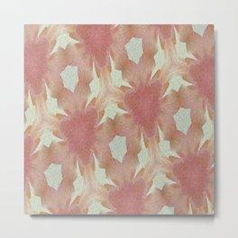 Geometric Floral Design - Pink Metal Print