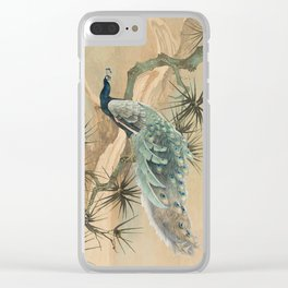 Peacock In The Pines Clear iPhone Case