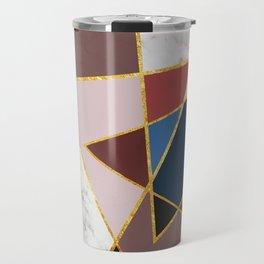 Marble Triangles P02 Travel Mug