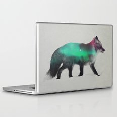 Fox In The Aurora Borealis Laptop & iPad Skin