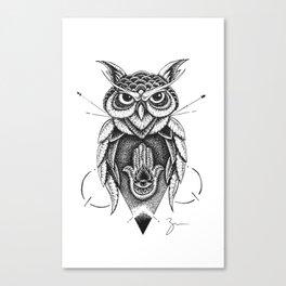 Dotowl Canvas Print