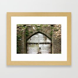 Caerphilly Castle Gate Framed Art Print