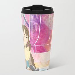 Windmill reading girl Travel Mug