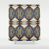 art deco Shower Curtains featuring Art-deco by I-lin