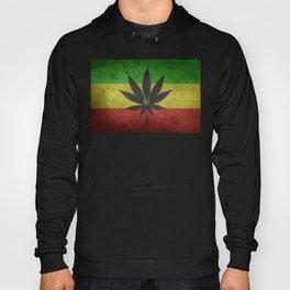 Rastafarian Flag with Marijuana Leaf Hoody