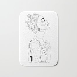 Bantu Beauty BW Bath Mat