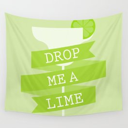 Drop Me A Lime Wall Tapestry