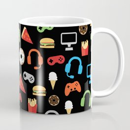 Video Game Party Snack Pattern Coffee Mug