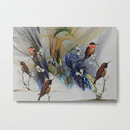 Rufous Hummingbirds Metal Print
