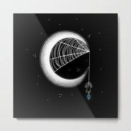 Moon Web Dark Metal Print