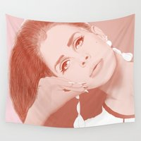 lana Wall Tapestries featuring LANA by Itxaso Beistegui Illustrations