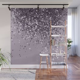 Sparkling Lavender Lady Glitter #2 #shiny #decor #art #society6 Wall Mural