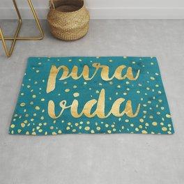 Pura Vida Gold on Teal Rug