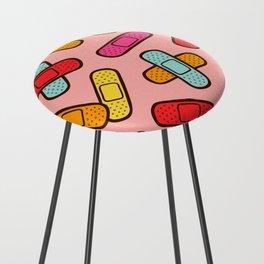Rainbow Band-Aids Counter Stool