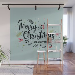 Vintage Christmas New Year Wall Mural