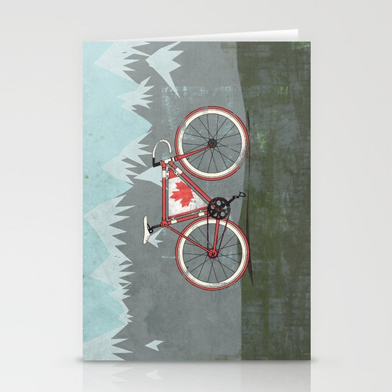 Love Bike, Love Canada Stationery Cards
