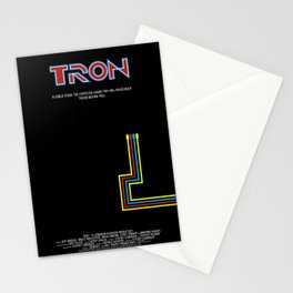 Tron 1982 - minimalist, alternative poster, scy-fi poster, Jeff Bridges, Bruce B Stationery Cards