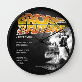 Back to The Future 2 Colors Wall Clock