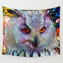 Ethereal Owl Wall Tapestry