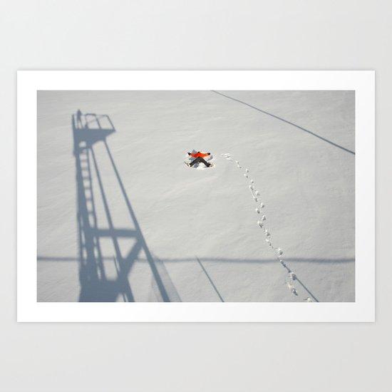 """Snow Angel"" Art Print"
