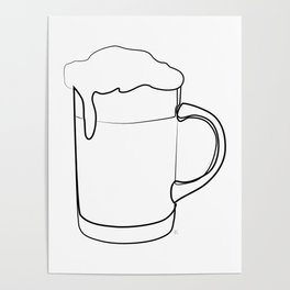 """ Kitchen Collection "" - Beer Mug Poster"