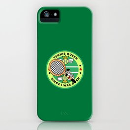 Tennis Patch iPhone Case